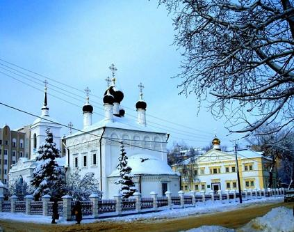 Orthodox church in winter