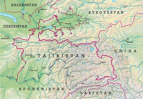 Tajikistand map