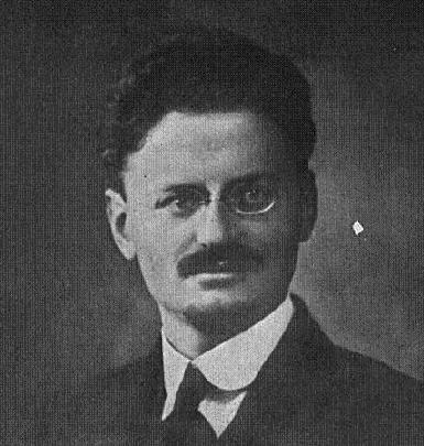 Leon Trotsky, real name Lev Davidovich Bronstein, founder of the Red Army.
