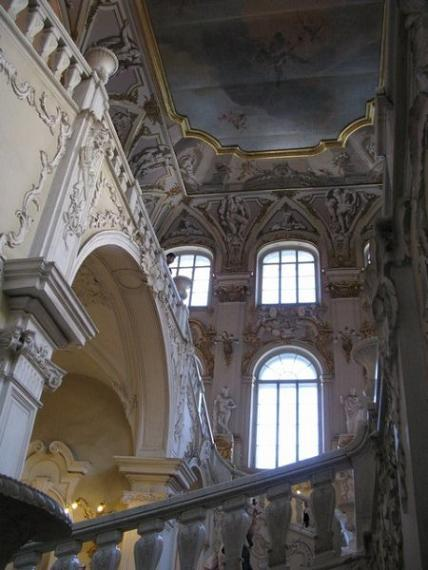 Hermitage staircase art