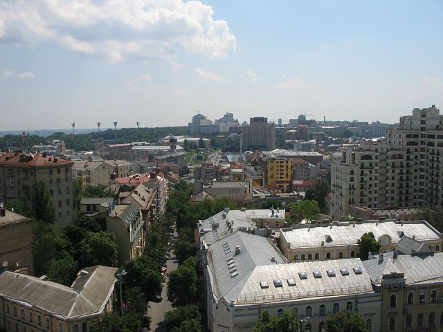 Kyiv from the domes of Saint Sophia Monastery.