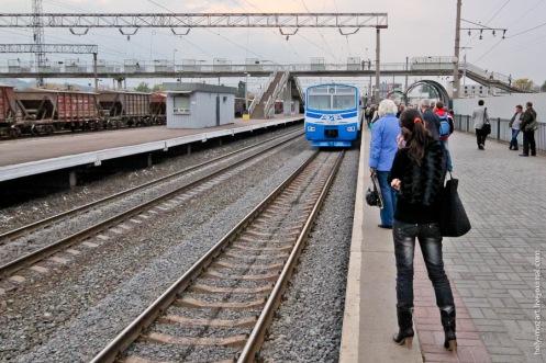 Kyiv region electric train.