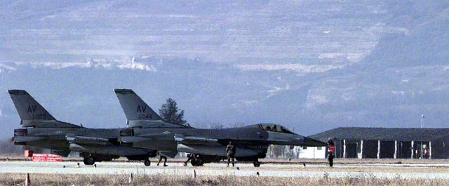 US Air Force F-16's in Aviano, Italy