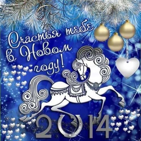 happy new year 2014 horse b