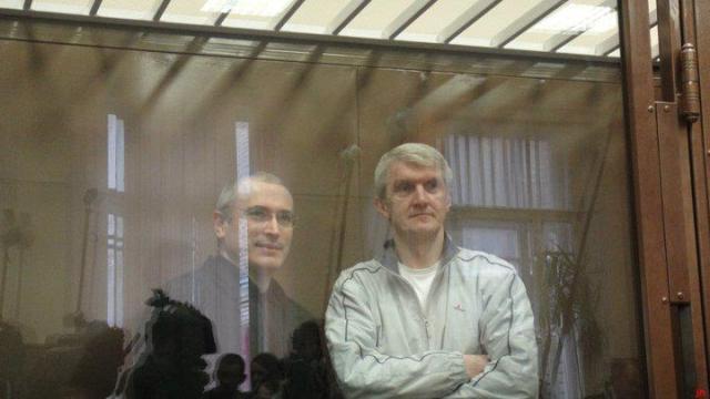 L-R: Khodorkovsky and Lebedev.