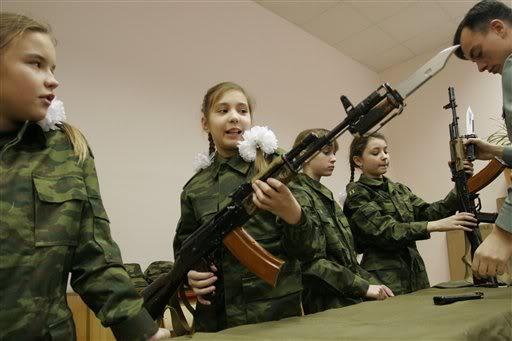 Moscow Cadet School #9. (AP Photo/Alexander Zemlianichenko II)