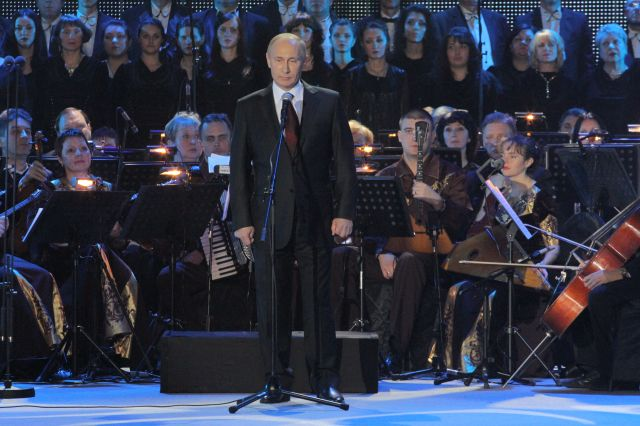 2 February 2013, President Putin addressed the celebration concert for the anniversary of the Battle for Stalingrad.