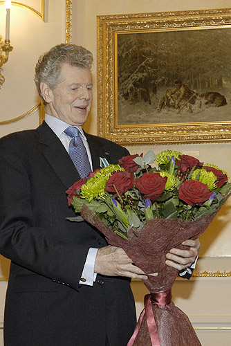 September 20, 2004Kremlin, Moscow. Awarding American pianist Van Cliburn Order of Friendship.