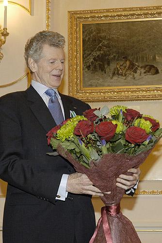 September 20, 2004Kremlin, Moscow. Awarding American pianist Van Cliburn Order of Friendship.
