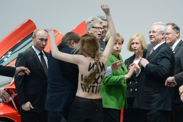 President Putin gets an eyeful.