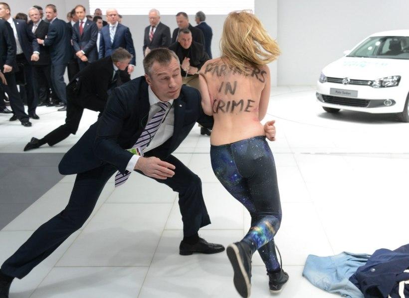 FEMEN protest, Hanover, Germany.