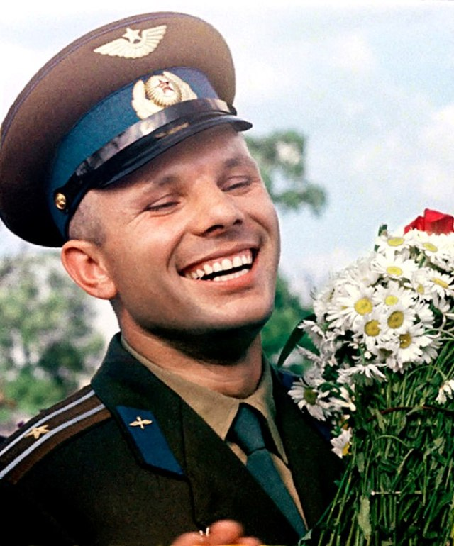 The Gagarin smile, a most notable trait.