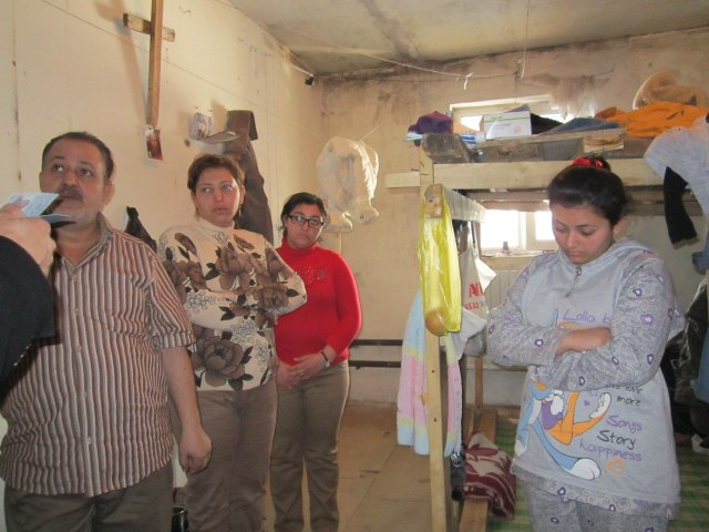 photo: Dmitry Pakhomov visited this Christian Egyptian family living in this room.