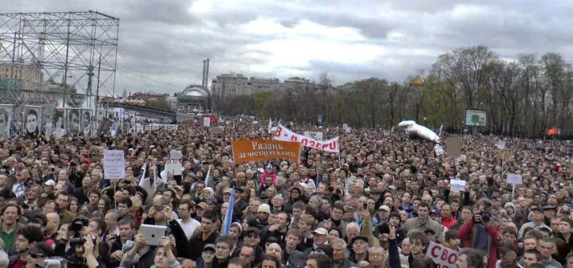 Protest rally, Moscow, 6 May 2013.