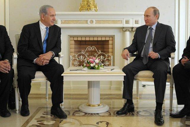 Sochi, Russia: Israeli PM Netanyahu and Russian President Putin.