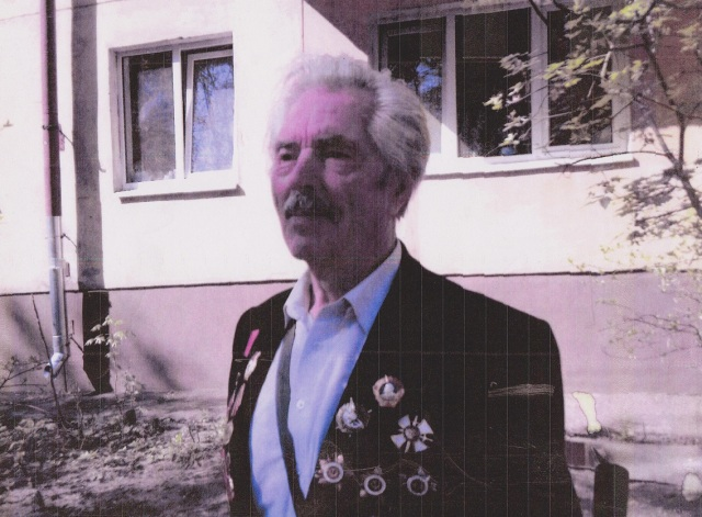 For Victory Day, 9 May, Maslennikov wears his medals.