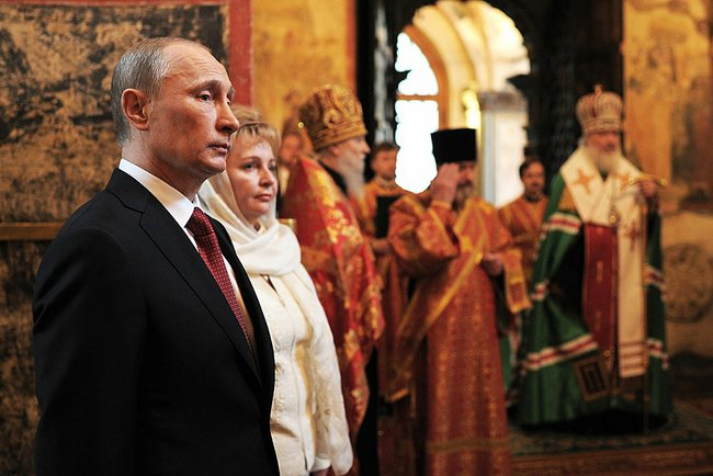 2012 Presidential inauguration, Kremlin Annunciation Cathedral.