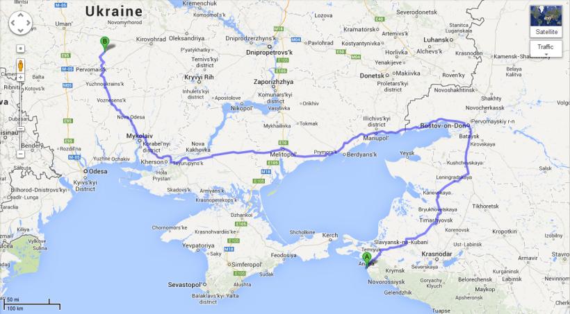 Anapa to Ukraine
