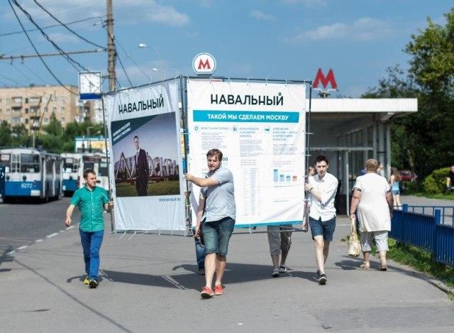 Navalny mayor race kiosk