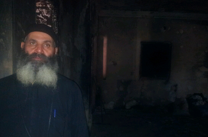 Egypt cpotic churches burn