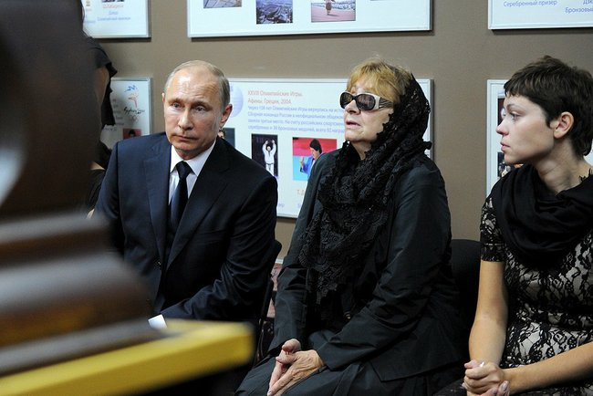 President Putin and Mrs. Rachlin, widow of his long time judo coach.