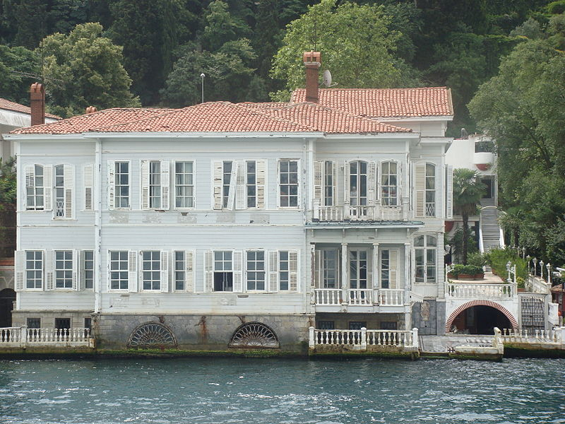 "The set for the soap opera ""Noor"" is this waterfront mansion."