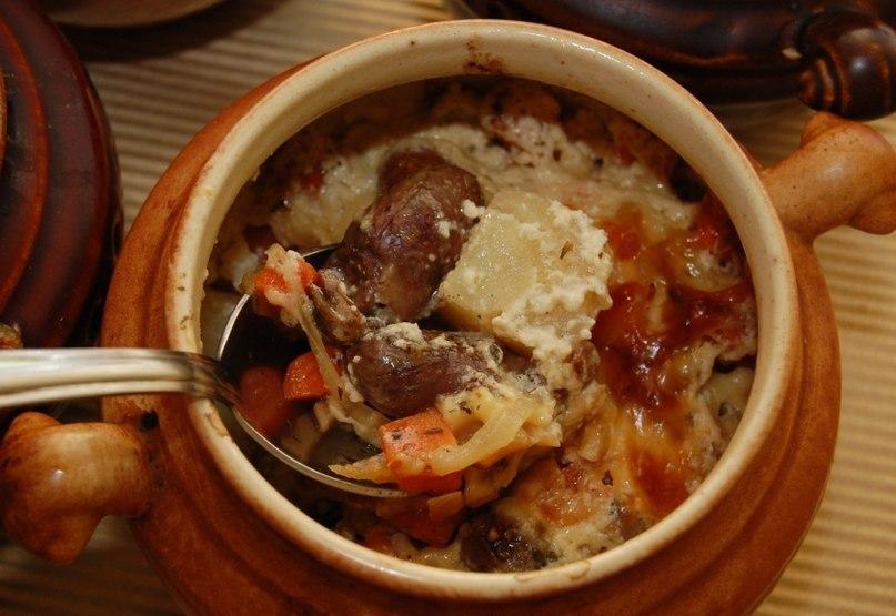 Chicken hearts stew