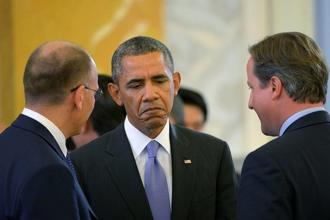 Mr. Obama was clearly not feeling the love from other world leaders.