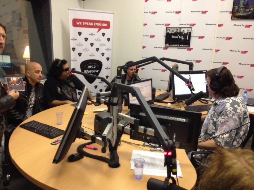 Moscow FM 105 2 main studio.