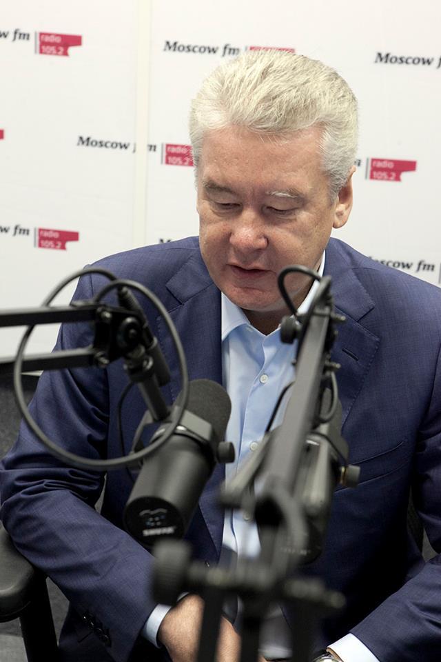 Moscow mayor Sergei Sobyanin appeared on air.