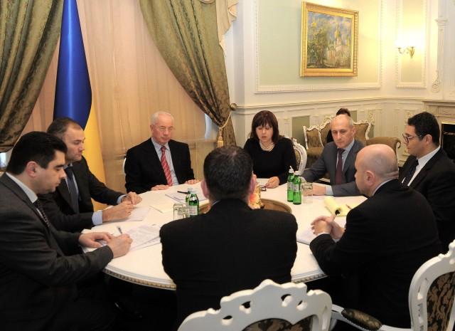 Ukraine hosted IMF delegates to talk about Ukraine's debt.