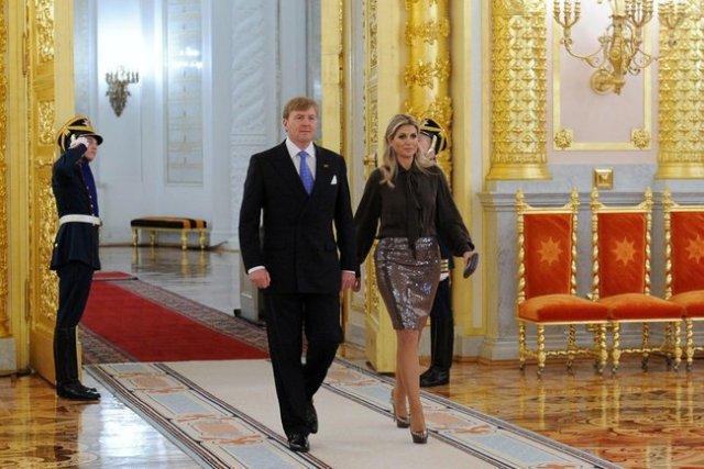 Netherlands King Willem-Alexander and (Queen consort) Maxima, Kremlin Grand Palace.