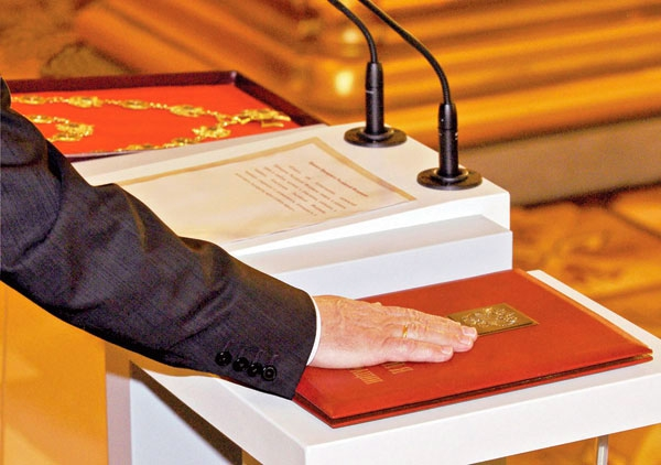2012: Mr. Putin took the presidential oath on the Russian Federation constitution.