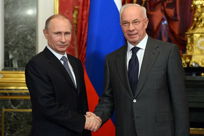 President Putin welcomed Prime Minister Mykola Azarov today to the Kremlin.