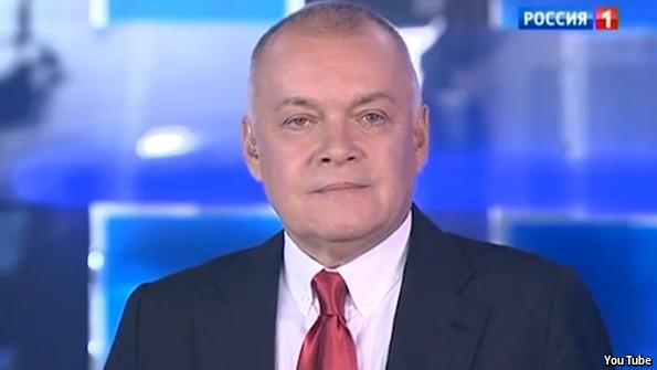New RIA Novosti boss Dmitry Kiselev.