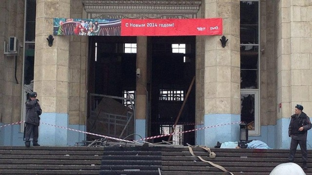 Entry to Volgograd Train station after the bombing.