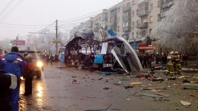 Volgograd trolleybus bombing, 30 Dec 2013.