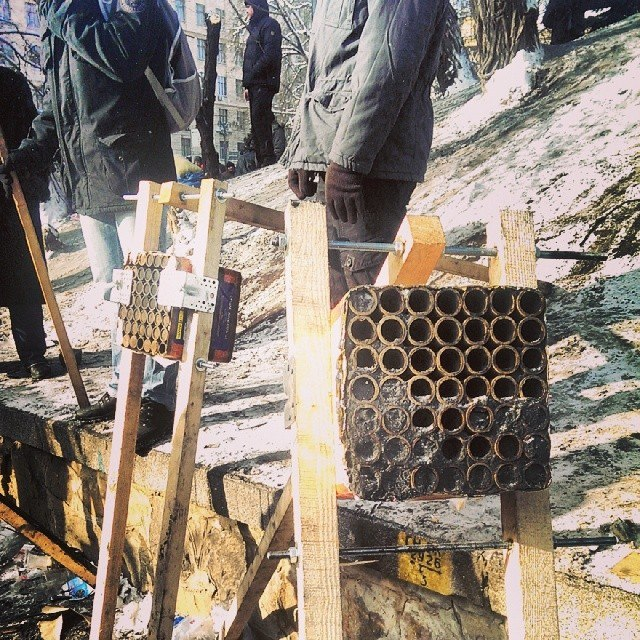 2014 protests homemade rocket launchers