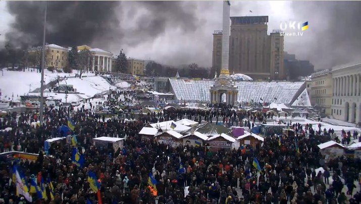 2014 protests Kyiv burns a