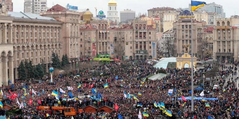 Independence Square, filled but before the violent demonstrations. (foto: Ilya Varlamov)