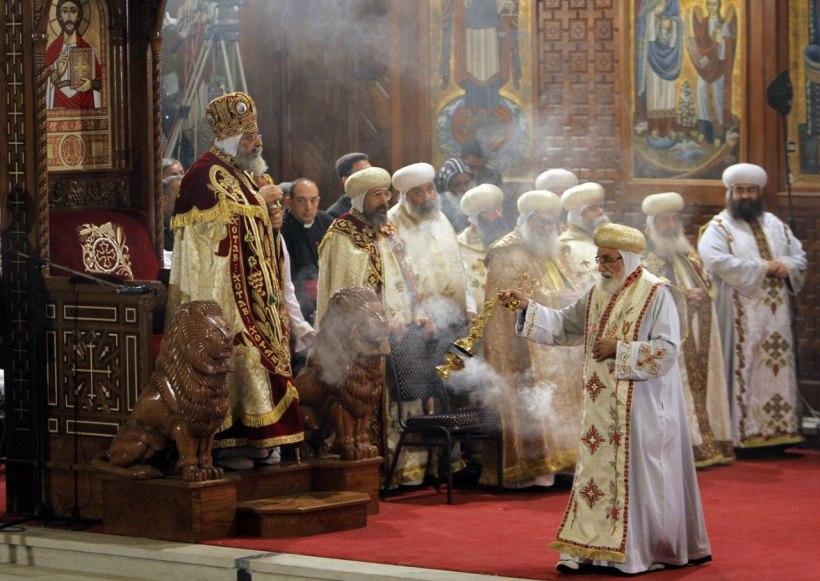 Egypt Pope Tawadros II, Christmas liturgy. (photo: Dmitry Pakhomov)