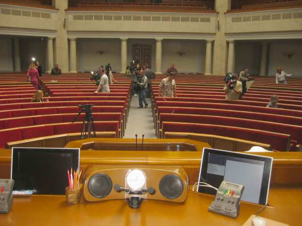 Chambers at Ukraine's Rada (parliament) look almost deserted these days.