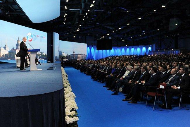 Russian President Vladimir Putin's opening speech to the International Economic Forum.
