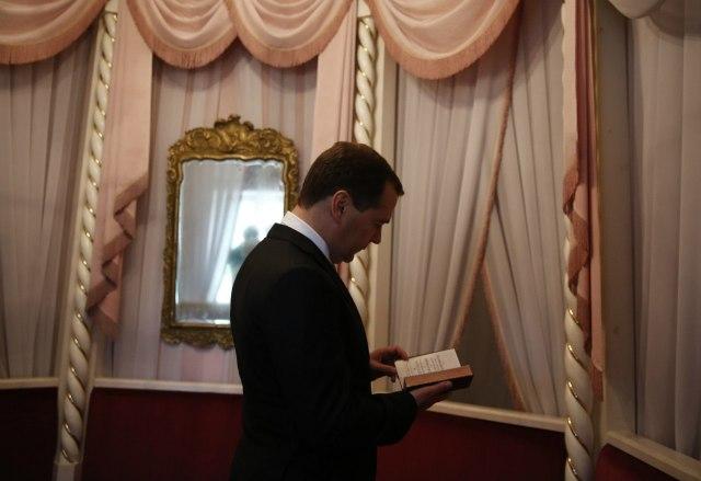 Prime Minister Medvedev enjoys Derzhavin's prose.