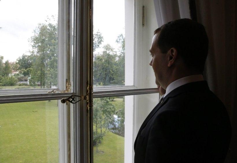 Russian Prime Minster Dmitry Medvedev, Derzhavin Museum.
