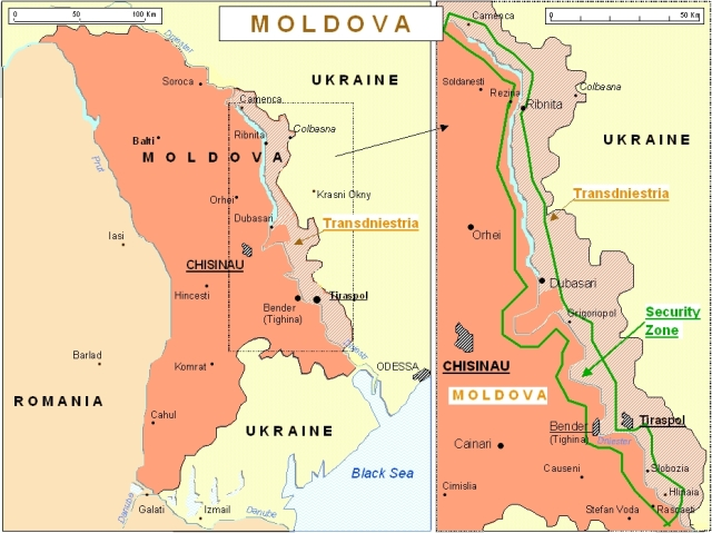 moldova map_transnistria