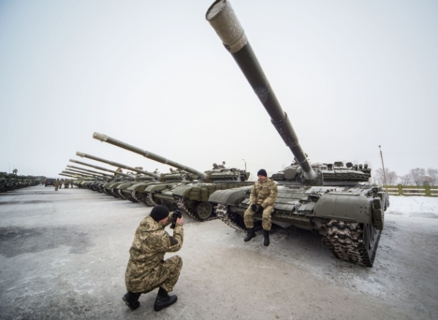 Ukraine Celebrates Armed Forces Day With New Tanks