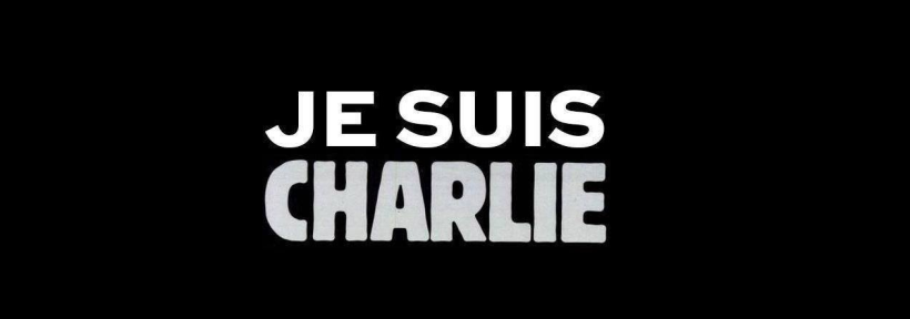 "Charlie Hebdo website graphic reads ""I am Charlie."""
