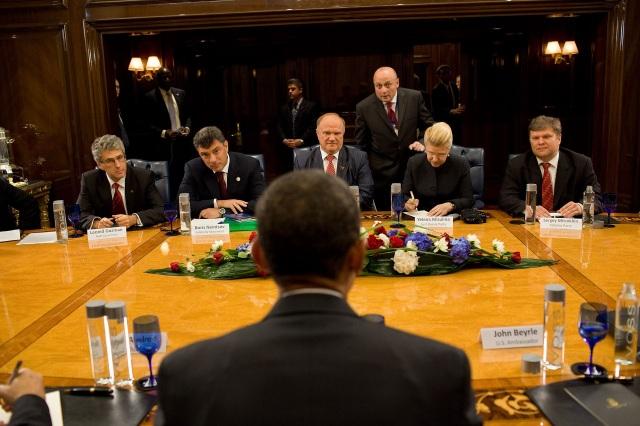 Boris Nemtsov 2009 Obama Leonid Gozman, Nemtsov, Gennady Zyuganov, Yelena Mizulina, Sergei Mitrokhin