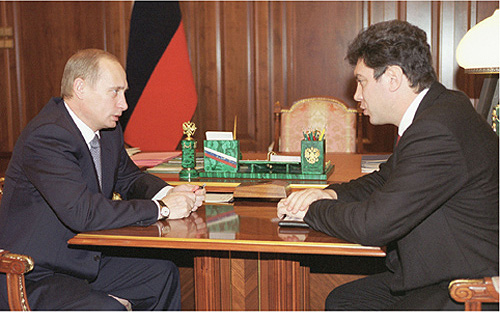 Putin and Nemtsov in the Kremlin,  5 Dec 2000. (Photo: Kremlin presidential press office.)